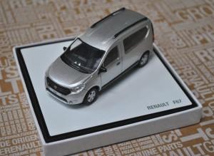 dacia dokker model samochodu w skali 1 43 srebrny. Black Bedroom Furniture Sets. Home Design Ideas